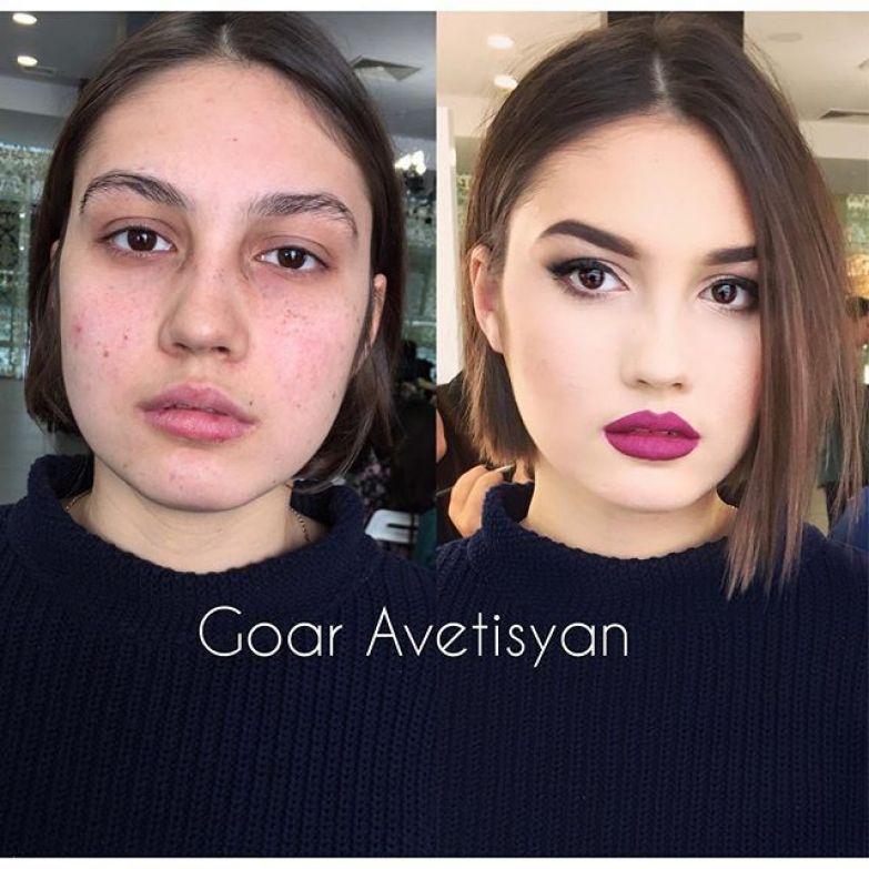 А это работы стилиста-визажиста Гоар Аветисян девушки, до и после макияжа, красота, макияж