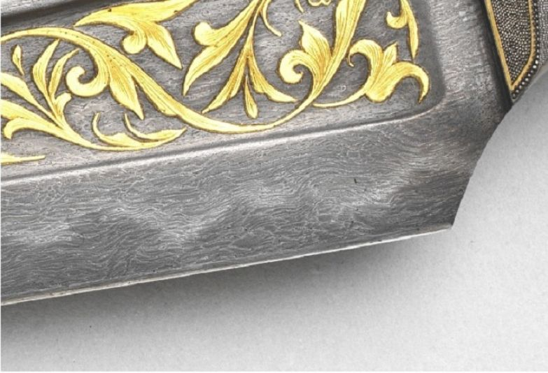 Рисунок дамасской стали. Имитация. | Фото: kulturologia.ru.
