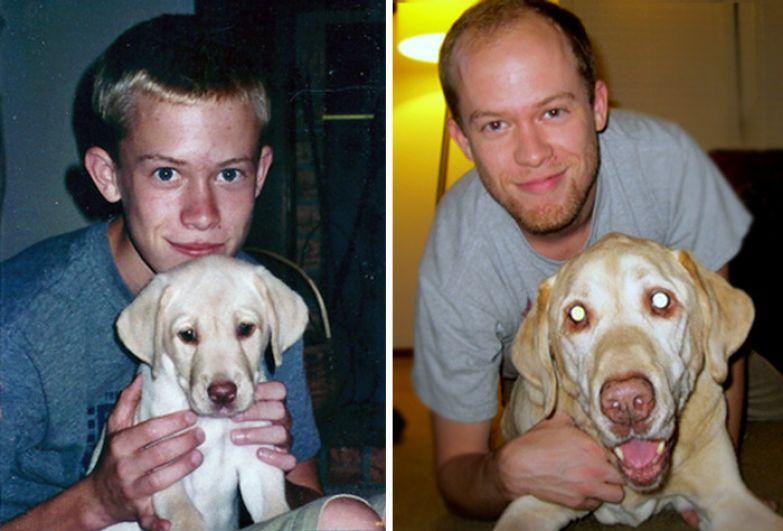 Подарок мне на 16 лет... Мне теперь 31! до и после, друзья, собаки, фото