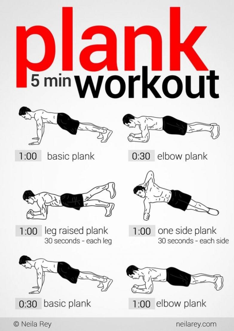 Планки: 5-минутная тренировка, WellFitness