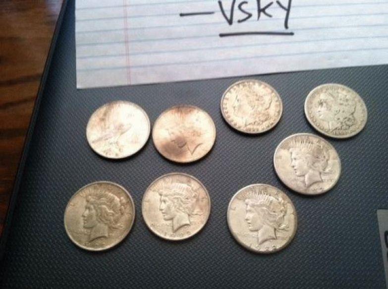Монеты США номиналом в четверть доллара бабушка, наследство, сейф