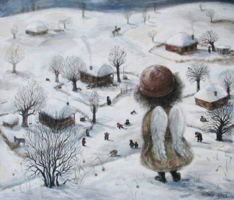 Зимний Ангел. Автор работ: Нино Чакветадзе (Nino Chakvetadze).