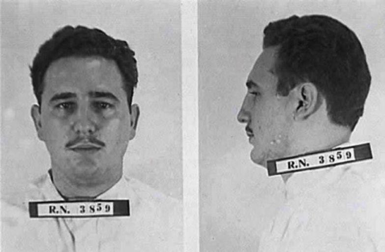 18. Фидель Кастро без бороды, в период тюремного заключения 1953-55 годы. интересное, исторические фото, история, фото