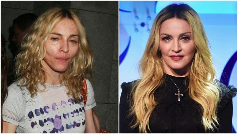 Мадонна без макияжа, звёзды, знаменитости