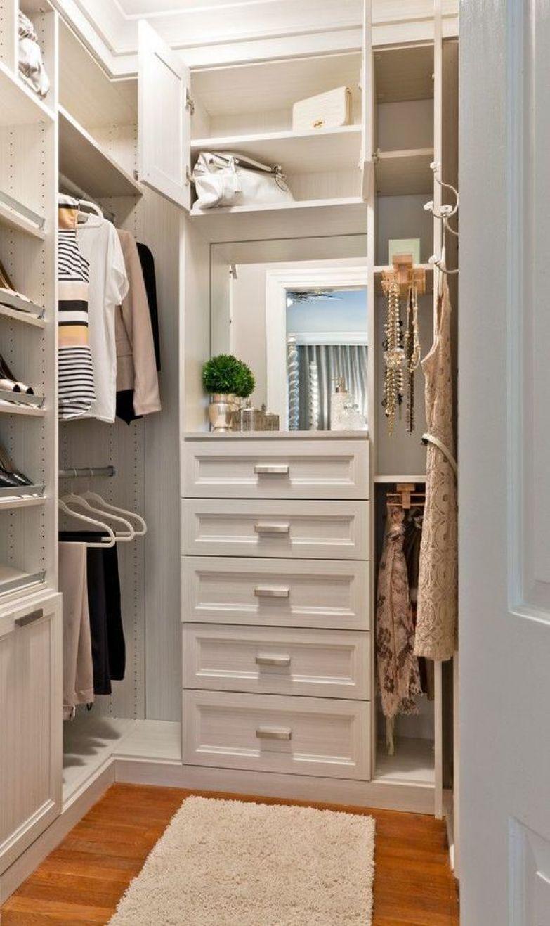 Как сделать из узкой кладовки гардеробную