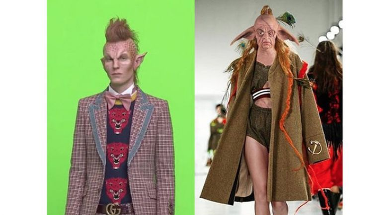Слева: дизайн Дэниэла Дэя, справа: Gucci