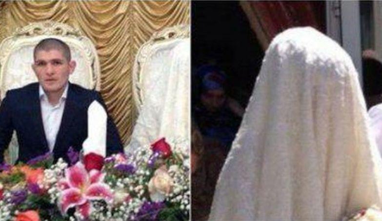 По местным обычаям. лицо невесты нельзя показывать окружающим