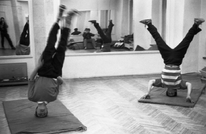 Гимнастические упражнения. СССР, Новокузнецк, 12 февраля 1988 года.