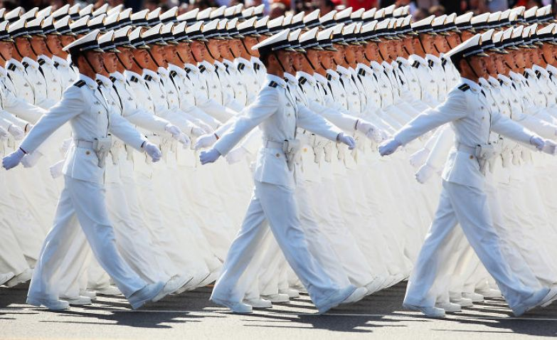 Китайская армия на марше искусство, мастерство, фото