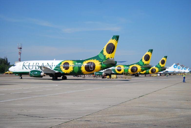 Авиакомпания Кубань. Расцветка очень в тему. необычные самолёты, раскраска, самолёты