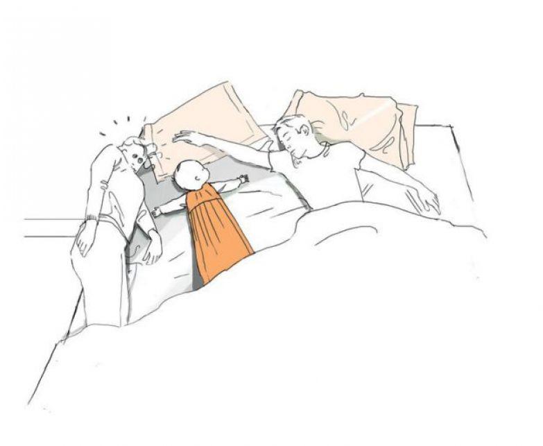 Как приятно спать с ребенком