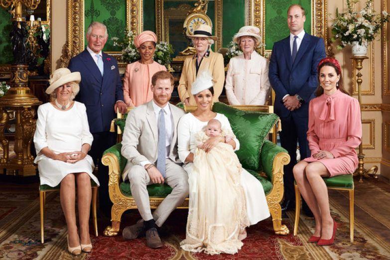 Королевская семья после крещения Арчи