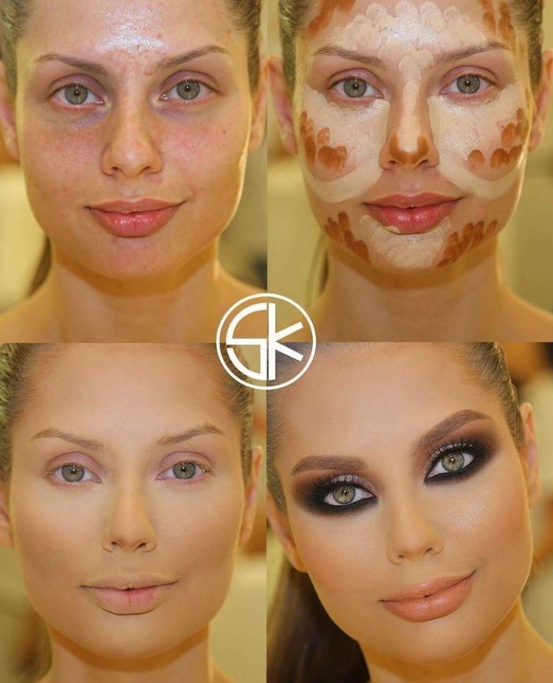 8. Вот это да! до и после макияжа, контуринг, макияж