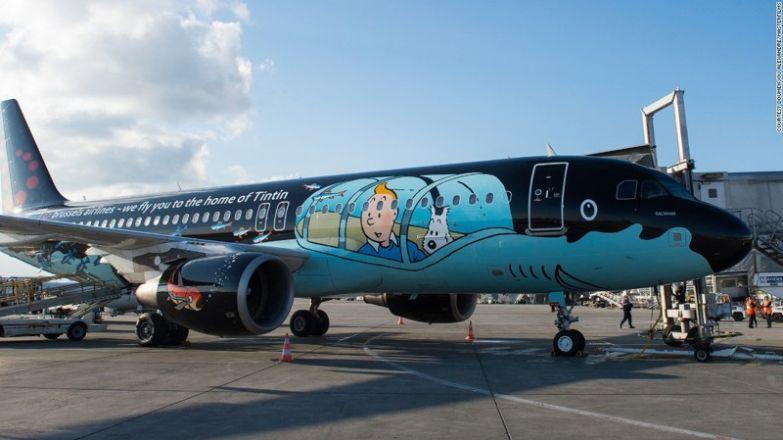 Герой мультфильма Тинтин. необычные самолёты, раскраска, самолёты