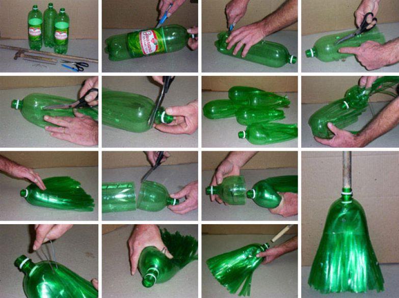 Метла из пластика