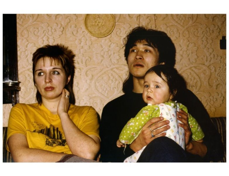 Марианна, Виктор и Саша Цой. 1985 год.