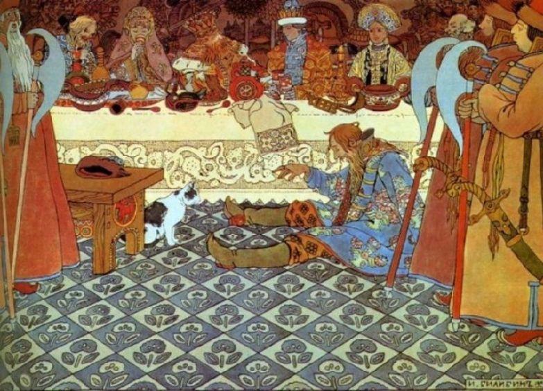 Иван Билибин. Пир у царя Салтана. 1904.