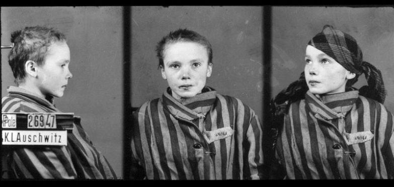 14-летняя заключенная Освенцима полячка Чеслава Квока