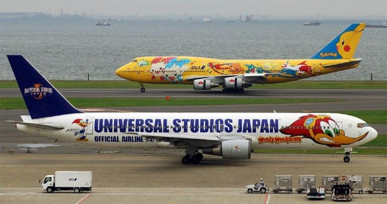 Всё та же японская ANA. необычные самолёты, раскраска, самолёты