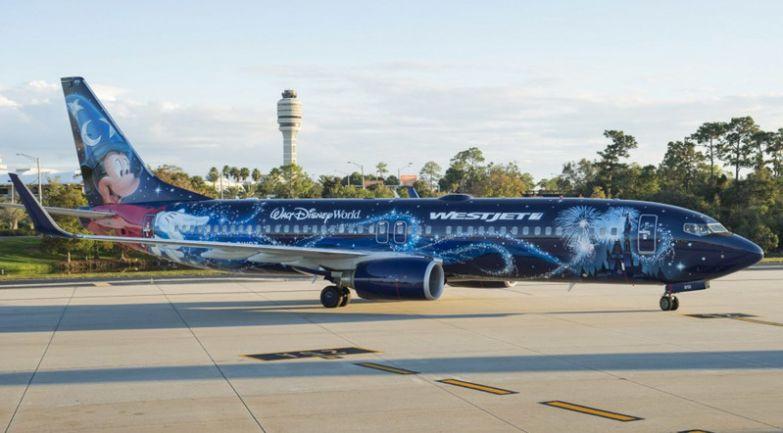 «Magic Plane» от бюджетной канадской WestJet. необычные самолёты, раскраска, самолёты