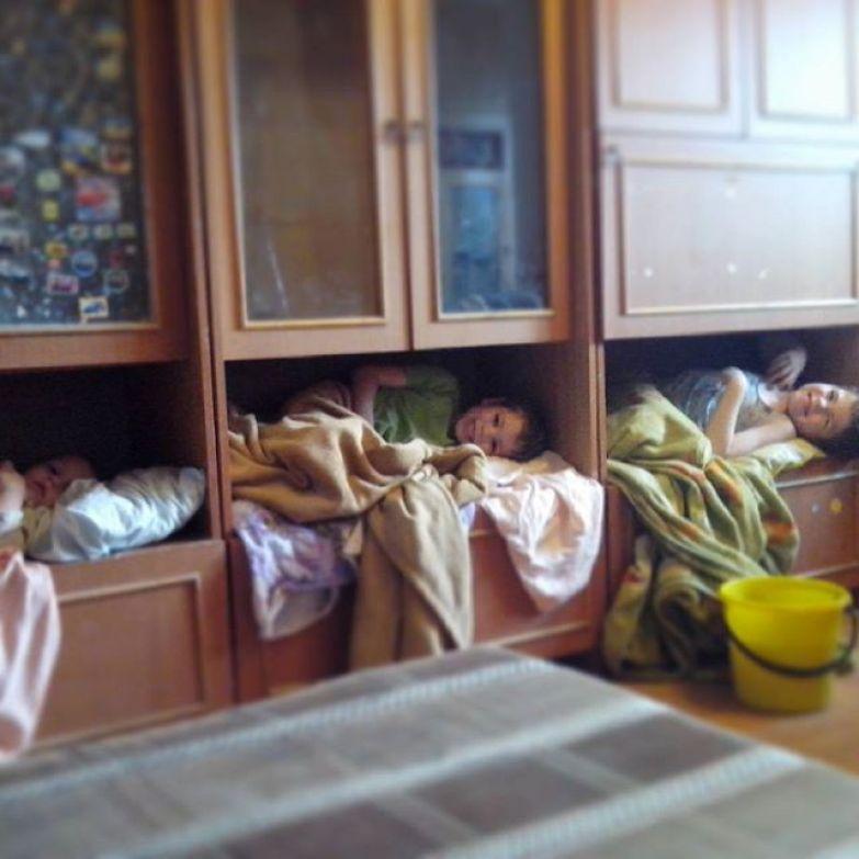 Когда маленькая площадь квартиры заставляет фантазировать дети, прикол, юмор