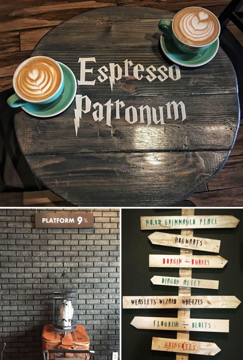 А вот и кафе для поклонников Гарри Поттера, Serious Coffee, Торонто, Канада мир, подборка, ресторан