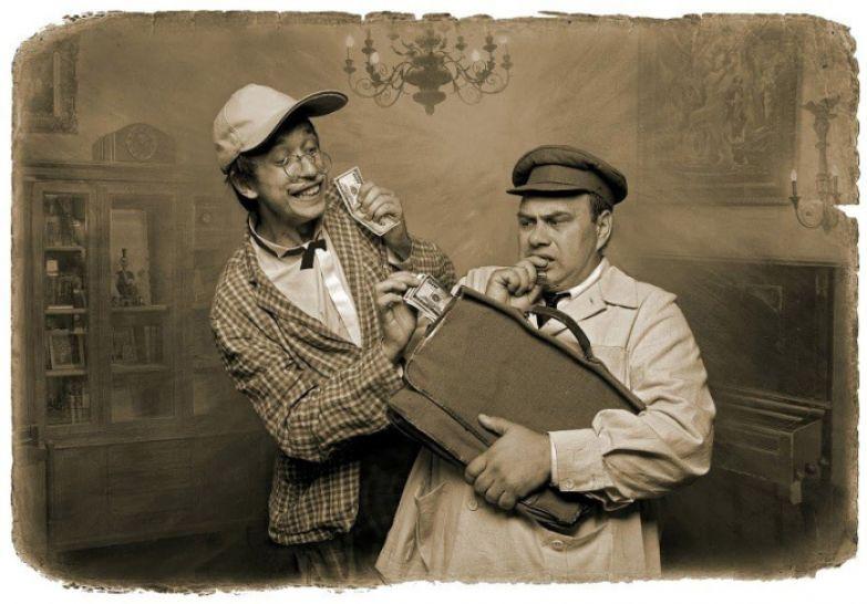 Никанор Иванович и Фагот. «Мастер и Маргарита». Фотоиллюстрации Елены Мартынюк.