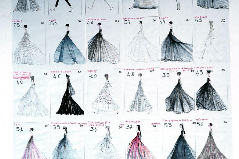 Эскизы коллекции Сhristian Dior Haute Couture весна–лето 2017