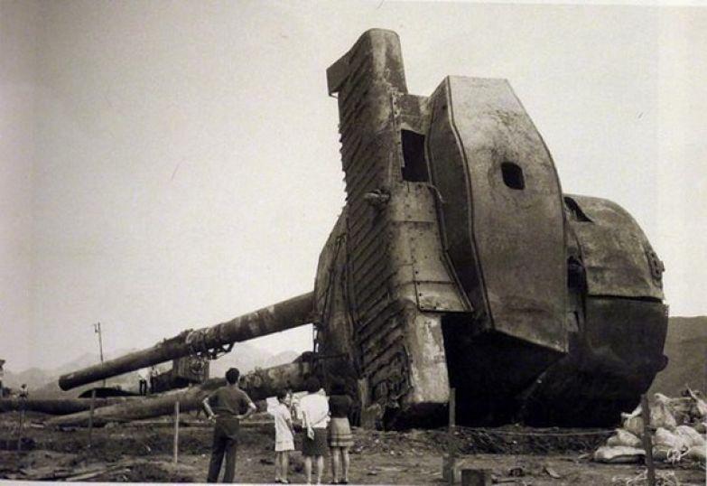 Башня линкора Муцу, извлеченная со дна морского. 8 июня 1943 года корабль взорвался в Хиросимском заливе и затонул на глубине 40 метров. история, события, фото