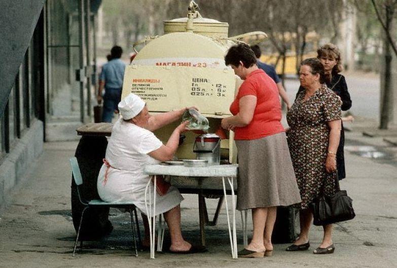 Тот самый советский квас из бочки... ностальгия, ссср, фото, фотографии