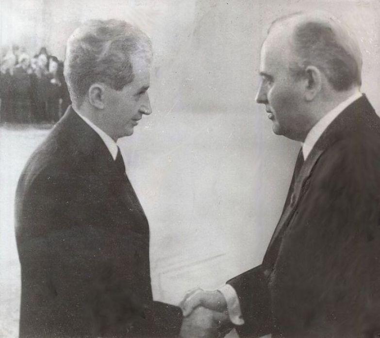 Николае Чаушеску и Михаил Горбачев, 1985 год. | Фото: ru.wikipedia.org.