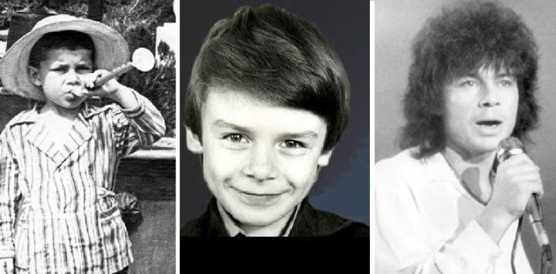 Олег Газманов в детские и в юные годы.