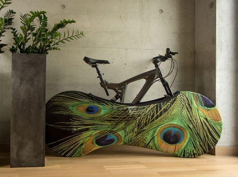 Яркие чехлы для велосипедов от Gvido Bajars