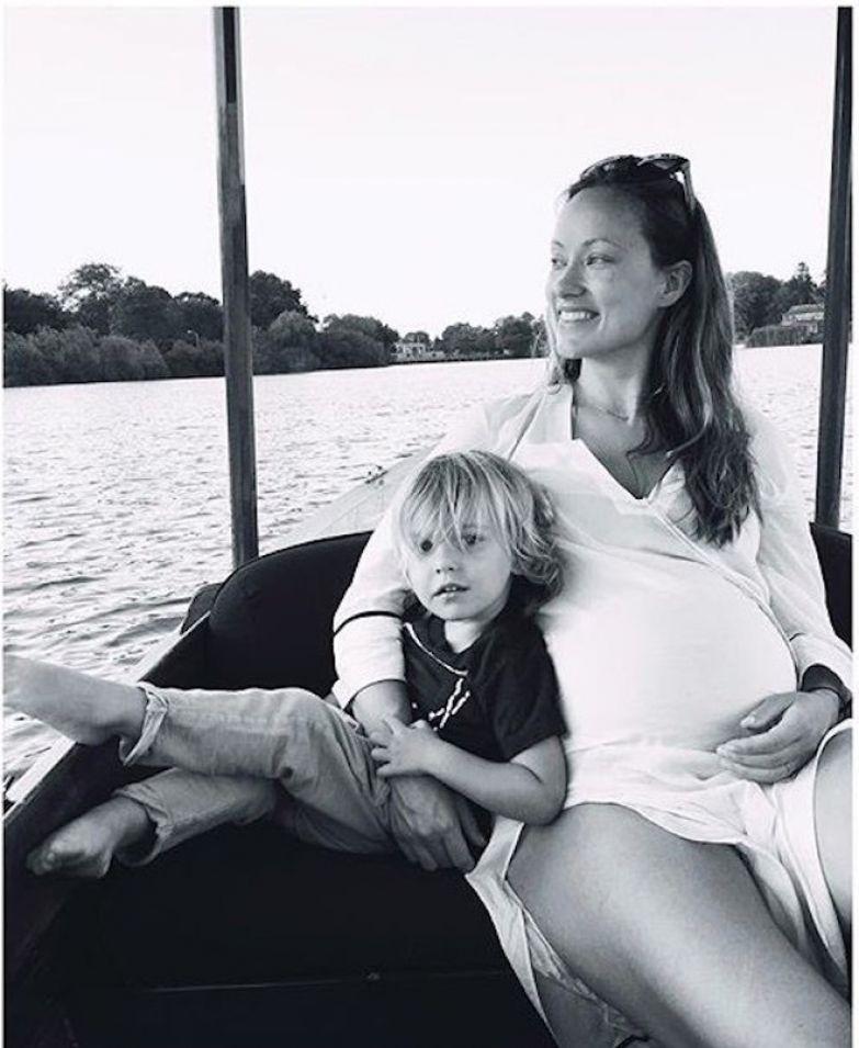 Оливия Уайлд с сыном Отисом