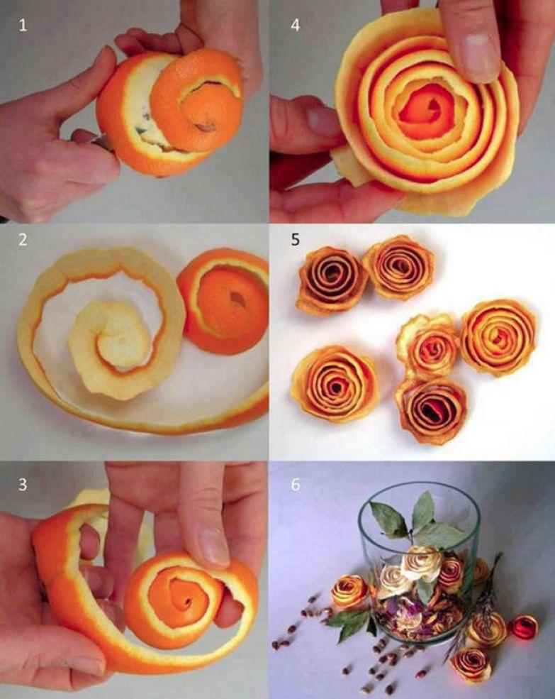 поделки из мандариновой цедры