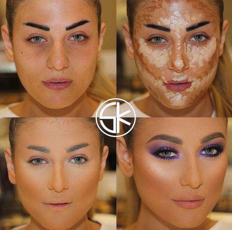 """2. Девушка, красивая """"до"""", и прекрасная """"после"""" до и после макияжа, контуринг, макияж"""