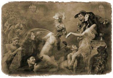 Супруга господина Жака уже становилась перед Маргаритою на одно колено и, бледная от волнения, целовала колено Маргариты. «Мастер и Маргарита». Фотоиллюстрации Елены Мартынюк.