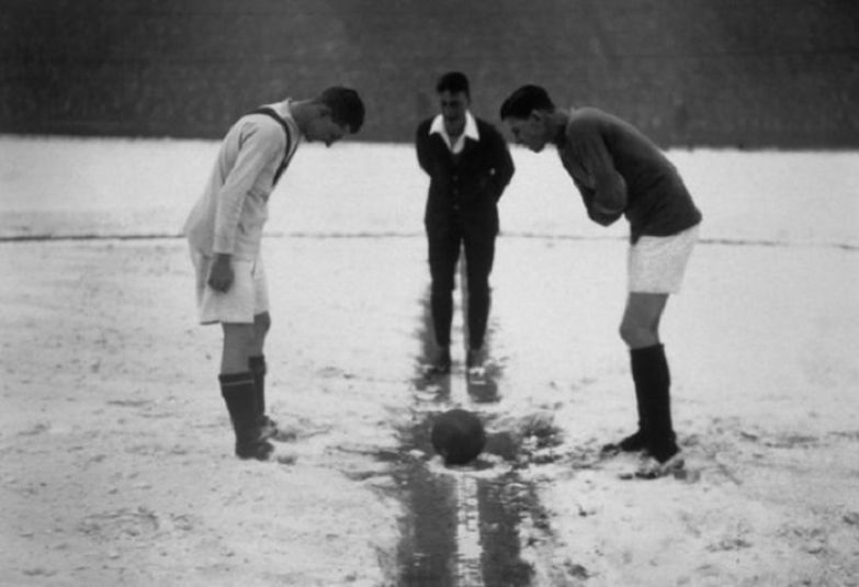 «Арсенал» vs «Манчестер Юнайтед» перед матчем, 1926 год.