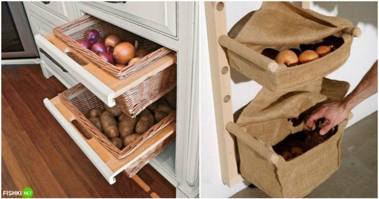 Почему бы не хранить овощи красиво? вещи, идеи, квартира, маскировка, полезное, решение