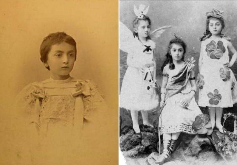 Слева – княжна Мэри Шервашидзе. Справа – сестры Елена, Мэри и Тамара Шервашидзе   Фото: liveinternet.ru