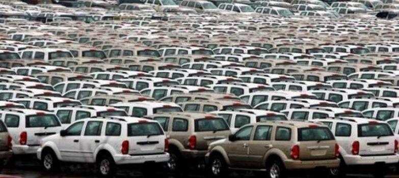 Огромное скопление машин, ожидающих отправки, в порту Балтимора, штат Мэриленд. авто, факты