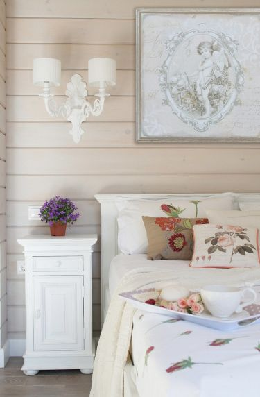 Фотография: Спальня в стиле Кантри, Дом, Проект недели, Московская область, дом из клееного бруса, Палекс Дизайн – фото на InMyRoom.ru