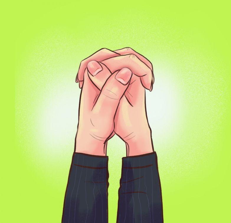 Ваша манера скрещивать пальцы расскажет, какая вы личность
