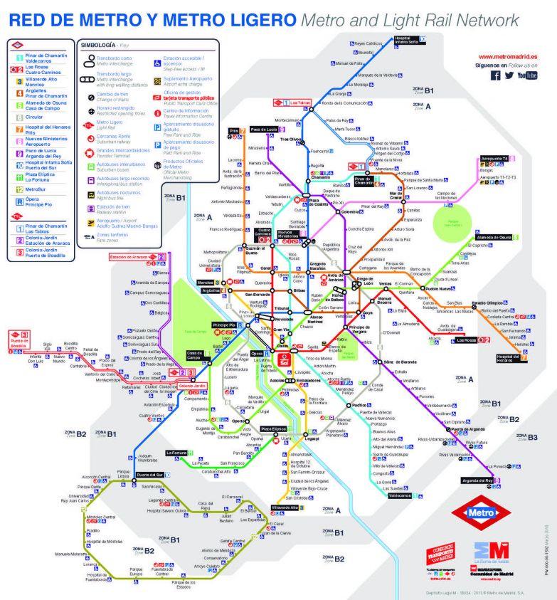 5. Мадрид — 298 станций (13 линий) в мире, карты, метро, транспорт