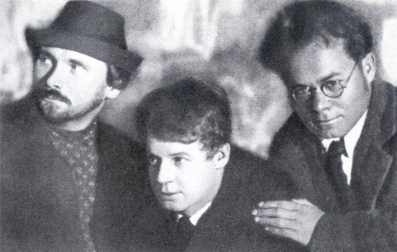 Николай Клюев, Сергей Есенин, Всеволод Иванов, 1923 год.