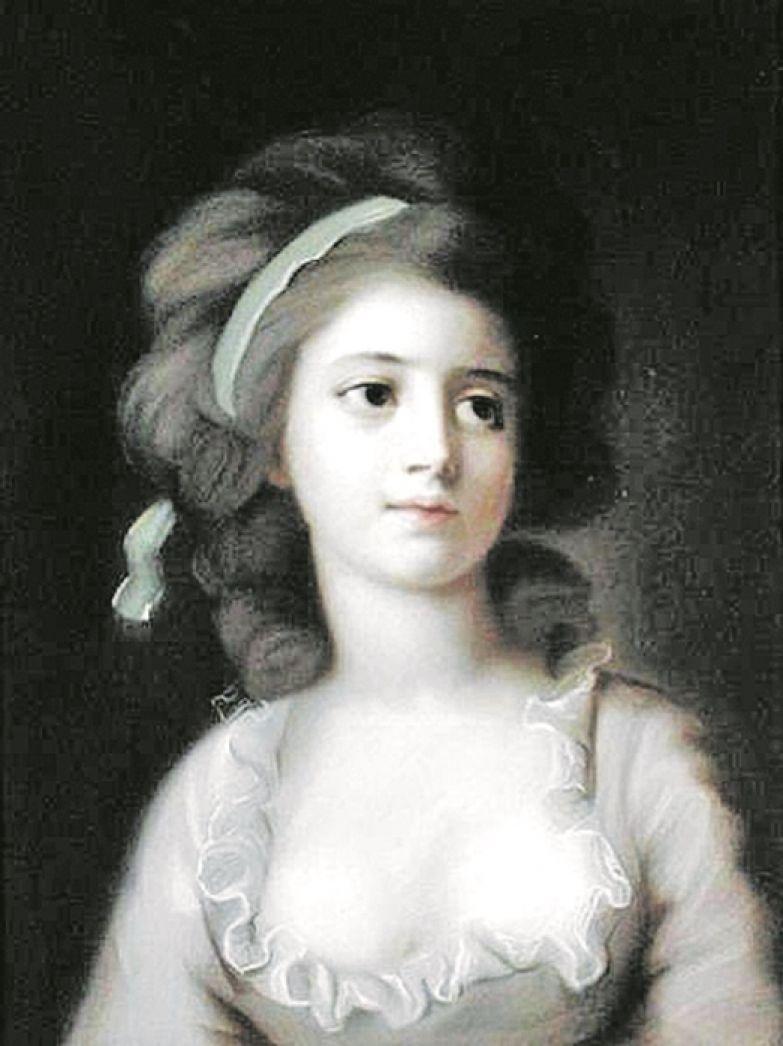 На портрете работы С. Тончи по мнению одних исследователей изображена София Потоцкая, по мнению других – ее родственница Хелена де Линь
