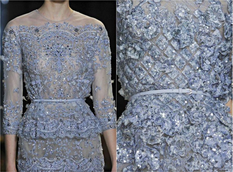расшитое бисером платье