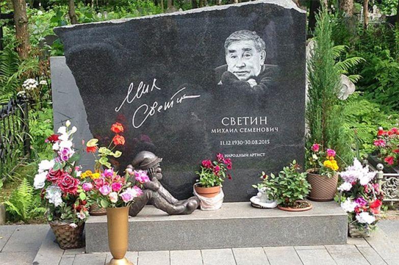 Могила М. С. Светина на Серафимовском кладбище Санкт-Петербурга.
