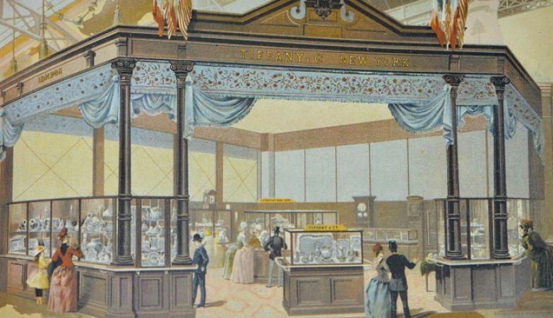 Павильон «Тиффани» на выставке в Париже 1889 год