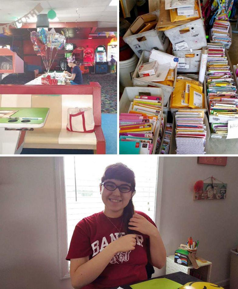 33. На 18-летие девушки, страдающей аутизмом, никто не пришел. Но на следующий день рождения она получила 10 тыс. открыток, подарки от служащих в Афганистане и даже куклу от НАСА. доброта, мир, поступок